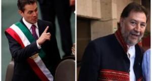 ''Mañana ajustaremos cuentas'', Fernández Noroña a Peña Nieto tras escoltarlo