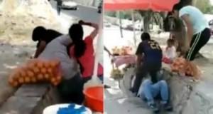 Acusan a familia de hondureños de golpear a comerciantes mexicanos